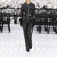 LOOK 18,EMBROIDERED BLACK SILK JUMPSUIT.