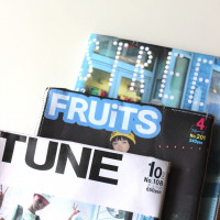 Paper clutch bag ( ×STREET, FRUiTS, TUNE)
