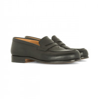 「Black leather penny loafer」(6万円)