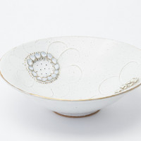 golden flower bowl 2016 ceramic h. 6.8 × φ 21.0 cm