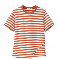 「UNIQLO and JW ANDERSON ボーダーラッフルT(半袖)」1,990円