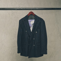STRIPE DOUBLE JACKET 7万円