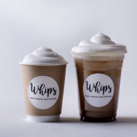Whipsラテ(Hot/Iced 500円)、Whipsモカ(Hot/Iced 550円)、Whips抹茶(Hot/Iced 550円)