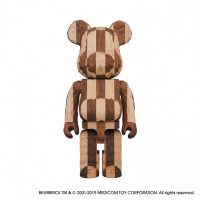 「BE@RBRICK カリモク fragmentdesign 400%」carved wooden - LONGITUDINAL CHESS(22万円)