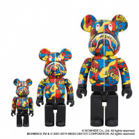 「MEDICOM TOY CAMO SHARK BE@RBRICK」(100% 2,000円、400% 1万円、1000% 6万円)