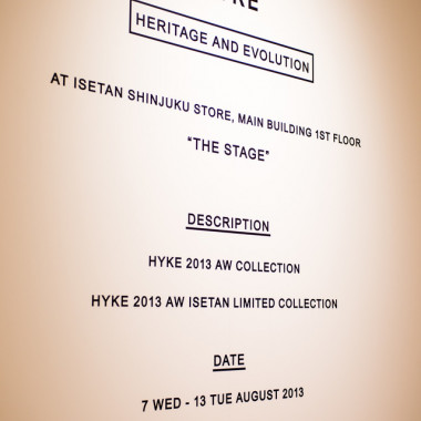 HYKE―HERITAGE AND EVOLUTIONがイベントテーマ