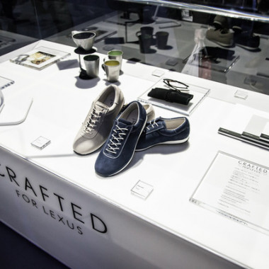 「CRAFTED FOR LEXUS」の製品展示
