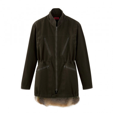 Swiss army parkawith fur(13万円)