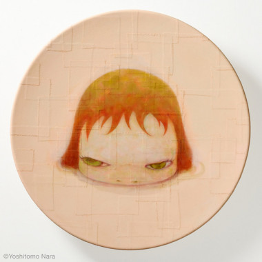 奈良美智「Shallow Puddles 2006」2006年 Acrylic on cotton, mounted on FRP 95 (diameter) x 15 cm Title revised in 2015