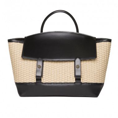 LARGE TOTE / Woven and Black(16万6,000円)