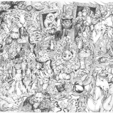 The Baby Shower Story誕生祝賀会に全員集合 / The Birthday Celebration: Gathering of All, 2003Pencil on paper,  515×730mm