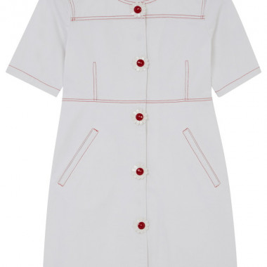 WOMENS WHITE DENIM BUTTONED DRESS(3万9,000円)