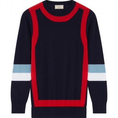 MENS COLORBLOCK PULLOVER(4万円)
