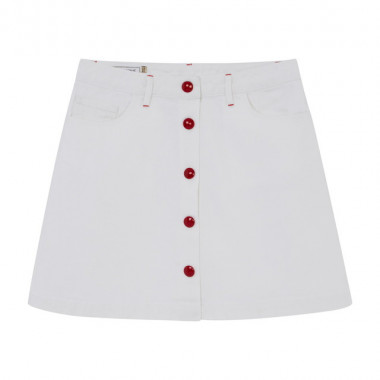 WOMENS WHITE DENIM MIA BUTTONED SKIRT(2万8,000円)