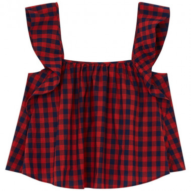 WOMENS CHECK CAMILLE TOP(2万5,000円)