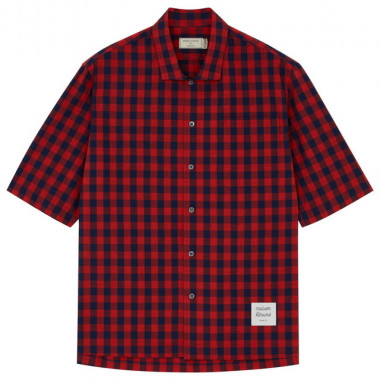 MENS CHECK SHORT SLEEVE SHIRT(2万4,000円)