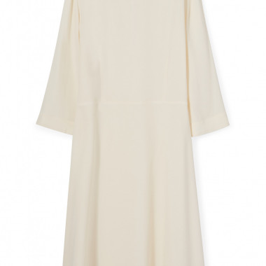 「CREPE FITTED 3/4 SLEEVE DRESS」CREAM(9万1,145円)