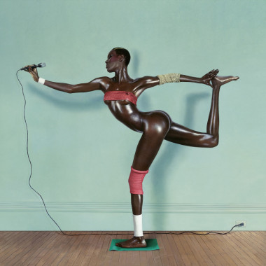 Jean-Paul Goude, Grace revised and updated, painted photo, New York, 1978