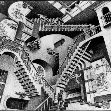 《相対性》 1953年 All M.C. Escher works
