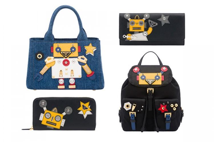 buy popular 61137 a256a プラダからカラフルなロボットモチーフの新作バッグ&財布が登場 ...