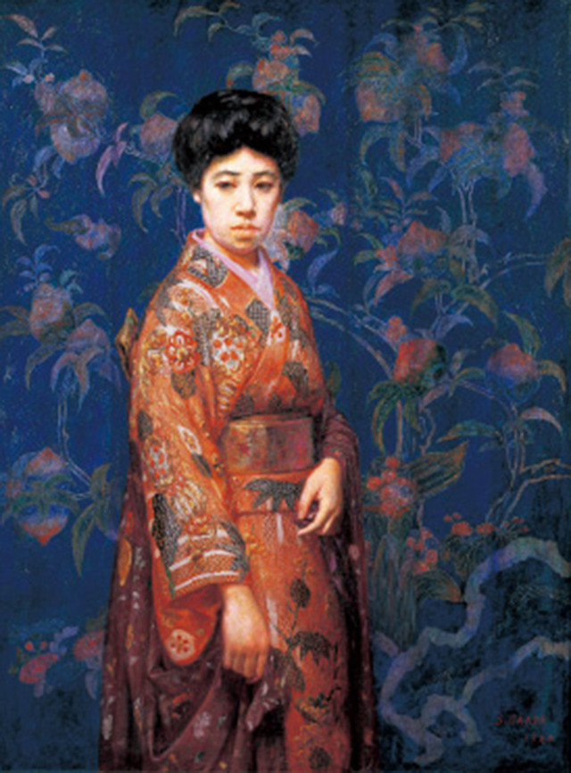 「岡田三郎助 支那絹の前」の画像検索結果