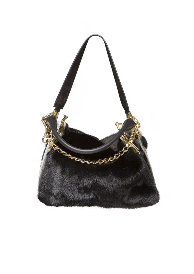 COIN PURSE  / Black Mink & Black Lucido (meaning shiny) Crocodile(148万円)
