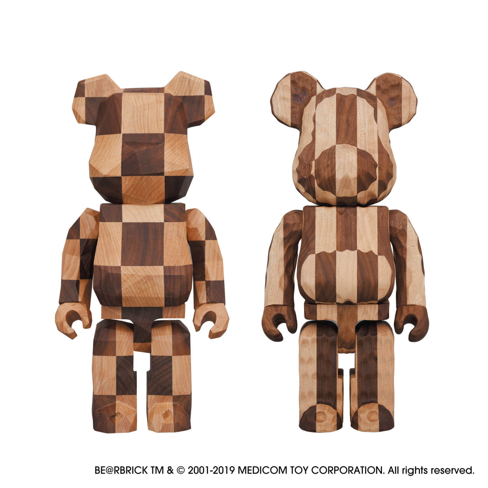 「BE@RBRICK カリモク fragmentdesign 400% polygon – CHESS/carved wooden - LONGITUDINAL CHESS」(各22万円)