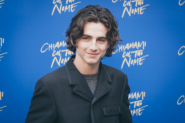 Actor Timothee Chalamet attends 'Chiamami Col Tuo Nome (Call Me By Your Name)' photocall at De Russie Hotel on January 24, 2018 in Rome, Italy.